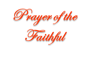 Prayer of the Faithful for a Catholic Wedding