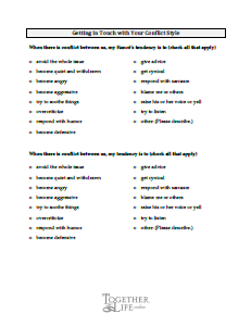 Conflict management worksheets pdf