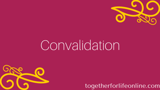 A Convalidation Ceremony In The Catholic Church Together For Life